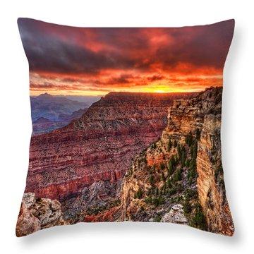 Grand Sunrise Throw Pillow