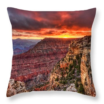 Grand Sunrise Throw Pillow