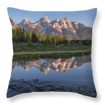 Grand Teton Awakening Throw Pillow
