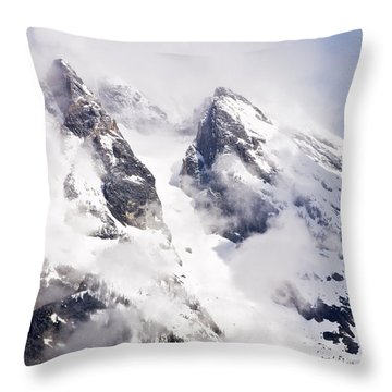 Grand Teton Glacier Throw Pillow