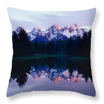 Grand Teton Reflex Throw Pillow