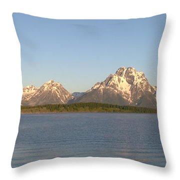 Grand Teton Sunrise Throw Pillow by Brian Harig