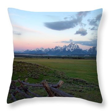Grand Tetons Before Sunrise Throw Pillow by Brian Harig