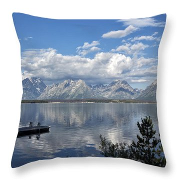 Throw Pillow featuring the photograph Grand Tetons In The Morning Light by Belinda Greb