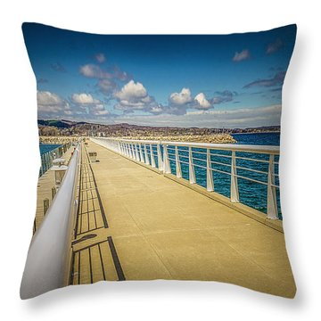 Grand Traverse Bay Throw Pillow