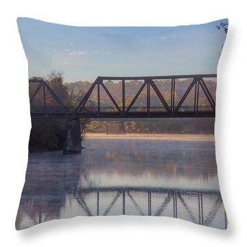 Grand Trunk Railroad Bridge Throw Pillow