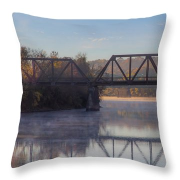 Grand Trunk Railroad Bridge Throw Pillow