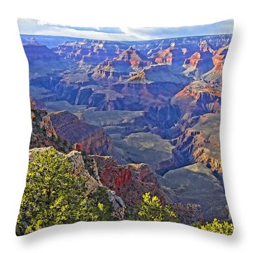 Grand View Canyon Throw Pillow