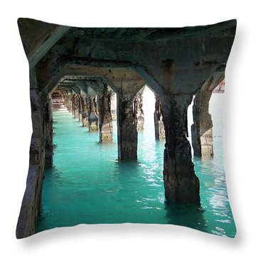 Grande Casse Pier Throw Pillow by David and Lynn Keller