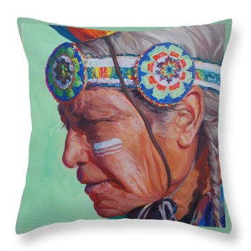 Grandfather Throw Pillow
