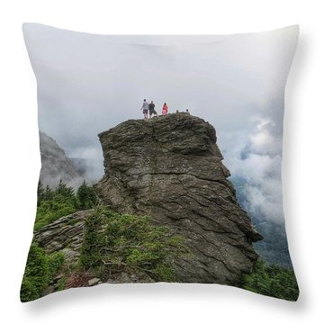 Grandfather Mountain Hikers Throw Pillow