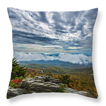 Grandfather Mountain Throw Pillow by John Haldane