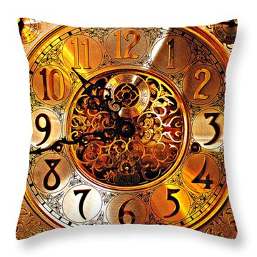 Grandfather Time Hdr Throw Pillow by Frozen in Time Fine Art Photography