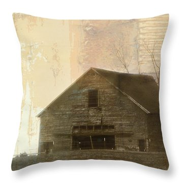 Grandfather's Barn Throw Pillow by Lena Wilhite