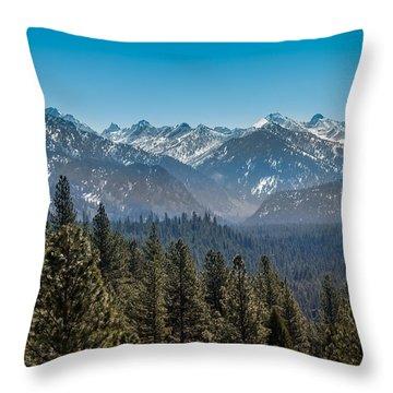 Grandjean Valley Throw Pillow by Robert Bales