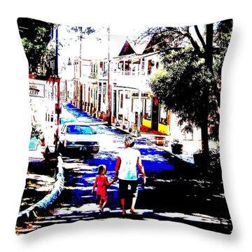 Grandma And Granddaughter Throw Pillow