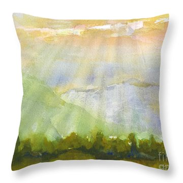 Grandma Cohen Rays Throw Pillow