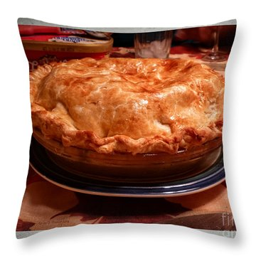 Grandma's Best Apple Pie Throw Pillow by Dee Flouton