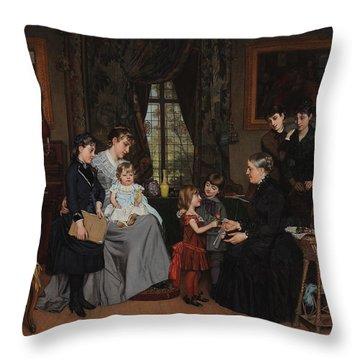 Grandmas Birthday Throw Pillow by Louis Edmond Pomey