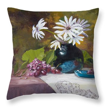 Grandma's Daisies Throw Pillow