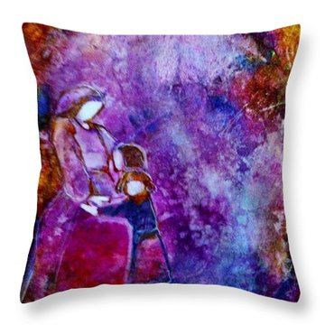 Grandma's Girls Throw Pillow
