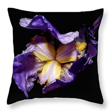 Grandma's Iris's  Throw Pillow