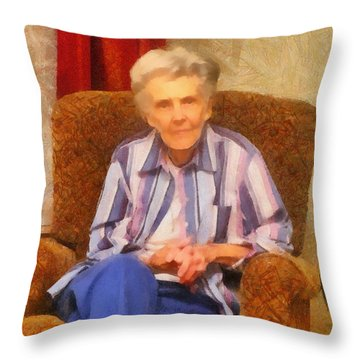 Grandmother Throw Pillow by Jeff Kolker