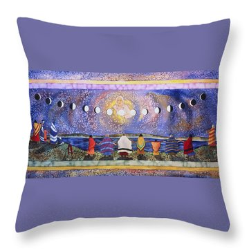 Grandmother Moon Throw Pillow