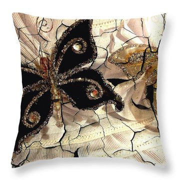 Grandmother's Brooches Throw Pillow