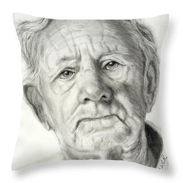 Grandpa Full Of Grace Drawing Throw Pillow