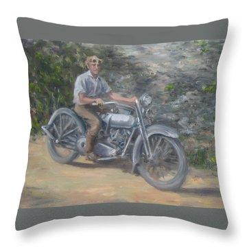 Grandpa's Harley Throw Pillow