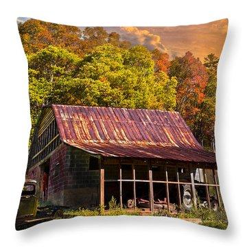 Grandpa's Old Truck Throw Pillow by Debra and Dave Vanderlaan