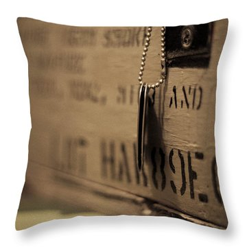Grandpa's Tags Throw Pillow