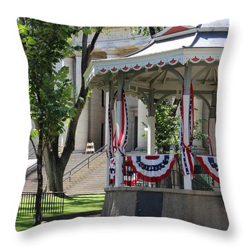 Throw Pillow featuring the photograph Grandstand Patriotism  by Natalie Ortiz