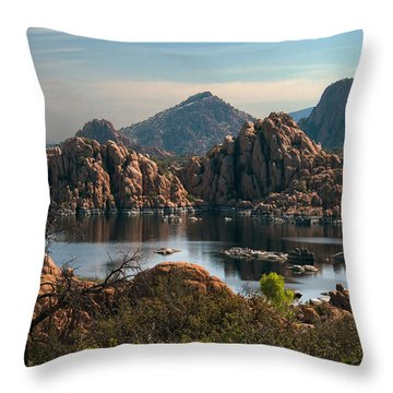 Granite Dells At Watson Lake Throw Pillow