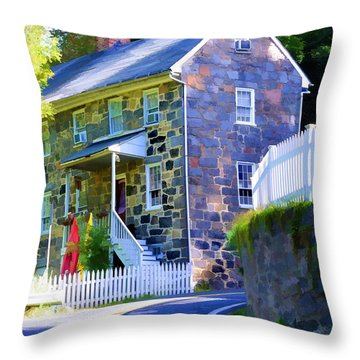 Throw Pillow featuring the photograph Granite Hill by Dana Sohr