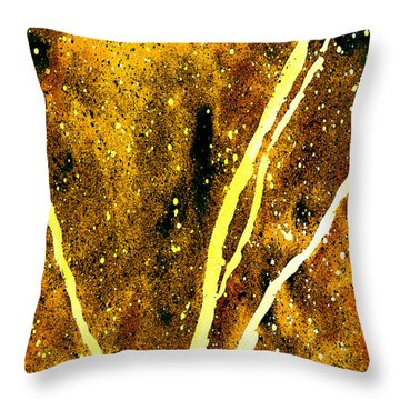 Granite In Citrine Throw Pillow