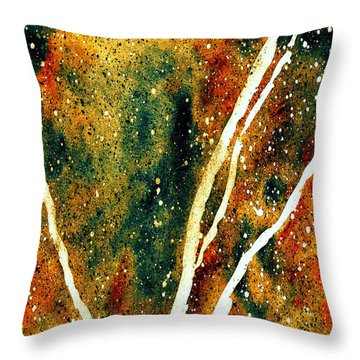Granite In Emerald Throw Pillow
