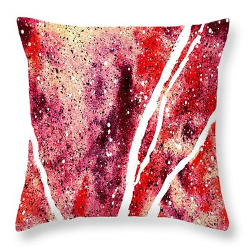 Granite In Garnet Throw Pillow