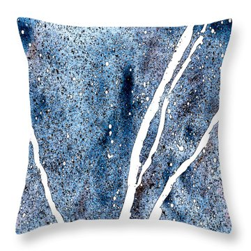 Granite In Sapphire Throw Pillow