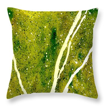 Granite In Tourmaline Throw Pillow