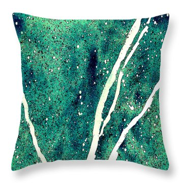 Granite In Turquoise Throw Pillow