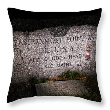 Granite Monument Quoddy Head State Park Throw Pillow by Marty Saccone