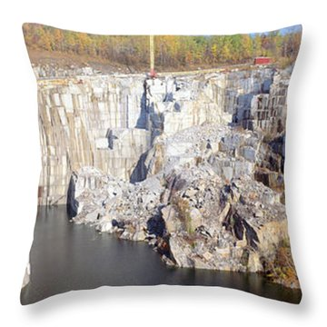 Granite Quarry, Barre, Vermont Throw Pillow