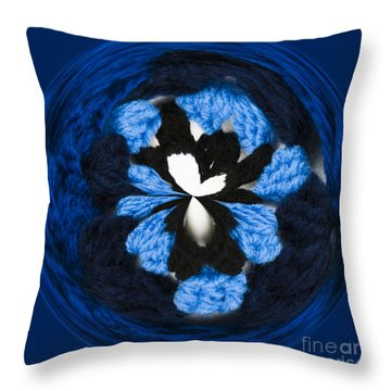 Granny Circle Throw Pillow by Anne Gilbert