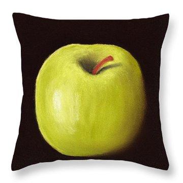 Granny Smith Apple Throw Pillow by Anastasiya Malakhova
