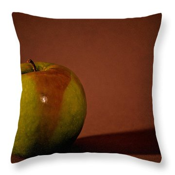 Throw Pillow featuring the photograph Granny Smith by Sharon Elliott