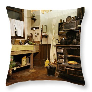 Granny's Kitchen Throw Pillow