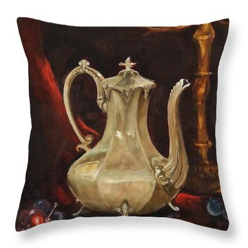 Grannys Teapot Throw Pillow