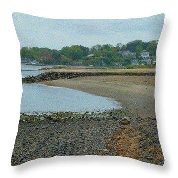 Granular Solitude Throw Pillow